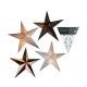 Star, paper, 20 LED warm white, 4 designs sorting