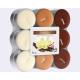 Teelichter Vanille 18er Pack, 3 Farben sortiert