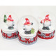 Real glass snow globe Santa 5,5x4x4cm, 3-fold sort