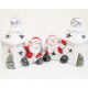 LED lantern XL 10x10x9cm, with Santa without snowm