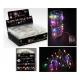 Huzal sztring 40iger LED többszínű, 200cm