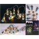 Fairy lights LED met glazen containers