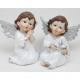 Fehér angyal, nagy szárnyakkal 10x8x7cm