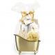 Gift set Gold Vanilla 5 parts in bathtub