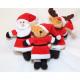 Plüschfigur in Weihnachtskleidung 13x10x5cm