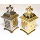 Lantaarn goud en zilver 14x7cm glanzend