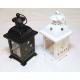 Fém lámpa fekete-fehér 14x7cm LED-es lámpával