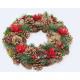 Karácsonyi koszorú XL 33cm Mikulásvirággal