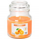 Scented candle in glass with lid 7x10cm orange