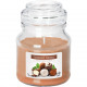 Scented candle in glass 7x10cm nut truffle, 120g