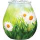 Kerzenglas mit Gänseblümchenmotiv 9,3x10cm