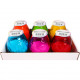 Bougie en verre 10x10cm verres colorés assorti