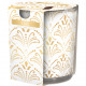 Scented candle motif glass Luxe 100g wax 7x8cm