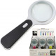 LED magnifying glass, different colors in the Disp