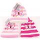 Winter kids knit hat with pompom & envelope