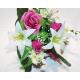 Bouquet of roses & lilies 42cm