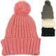 Winter Women's Knit Hat with Rhinestones