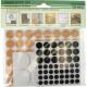Möbelgleiter 124er Sortiment rund 1-4cm 3 Farben