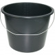 Eimer 12 Liter schwarz bedingt für Bau geeignet