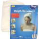 Microfiber hair / head towel 58x22x7cm with button