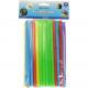 couleurs fluorescentes des pailles 50s Jumbo assor