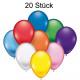 Luftballons 20er je 22cm Durchmesser,