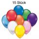 Luftballons 15er je 22cm Durchmesser