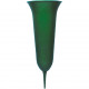 Grab vase 31x12cm plastic, color green