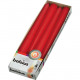 EIKA pointed candles set of 4 25x2,5cm red,