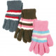 Winter ladies' cuddly gloves striped 6 colors.