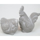 Rooster and hen made of ceramic 10x6x5,5cm