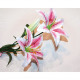 Tiger Lily Flower LUXURY XL 72cm avec 2 grandes fl