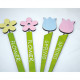 Wooden flower plug, great trend colors,