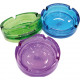 Ashtray glass colored assorted 10.5 x 3.8cm