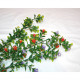 Dekogrün mit Blüten 20 Köpfe und 50cm lang