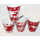 Coffee mug Hirschmotiv conical 10x8,5cm