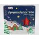Piramis gyertya 24er piros 14x74mm
