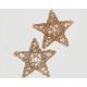 Rattanstern készlet 2 Gold Glitter 15cm