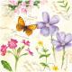 Tovaglioli Premium 20er 33x33cm 3 strati farfalla