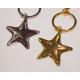 Key ring metal 9x5cm precious silver /