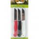 Kitchen knife set of 3 length 16cm blade 7cm