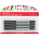 Permanent marker universal set of 4, 4 assorted co