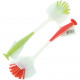 Rinse brush with rubber handle + suction cup 2-way
