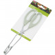 Kitchen tongs 24cm white handle on card