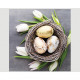 Premium napkins 20x 33x33cm, 3-ply, tulips
