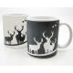 Coffee mug license 250ml, white / gray m moose
