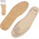 Latex insoles with cork for cutting