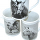 Kaffeebecher Pferde gerade Form 10x7cm , 265ml