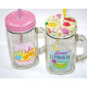 Glass handle cup 450ml, 13,5x10,5x 7,5cm