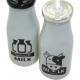 Drinking bottle with metal lid 6,5x15,5cm,
